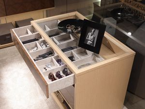 AR25C, Kabinettsinsel für begehbarem Kleiderschrank mit Schubladen