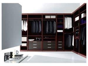 ATLANTE Begehbarer Kleiderschrank comp.01, Einen begehbaren Kleiderschrank mit hoher Design