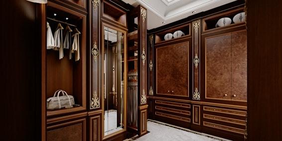 Klassischer Luxus Begehbarer Kleiderschrank Idfdesign