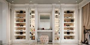 Begehbare Kleiderschränke 9700, Klassischer Luxus-begehbarer Kleiderschrank