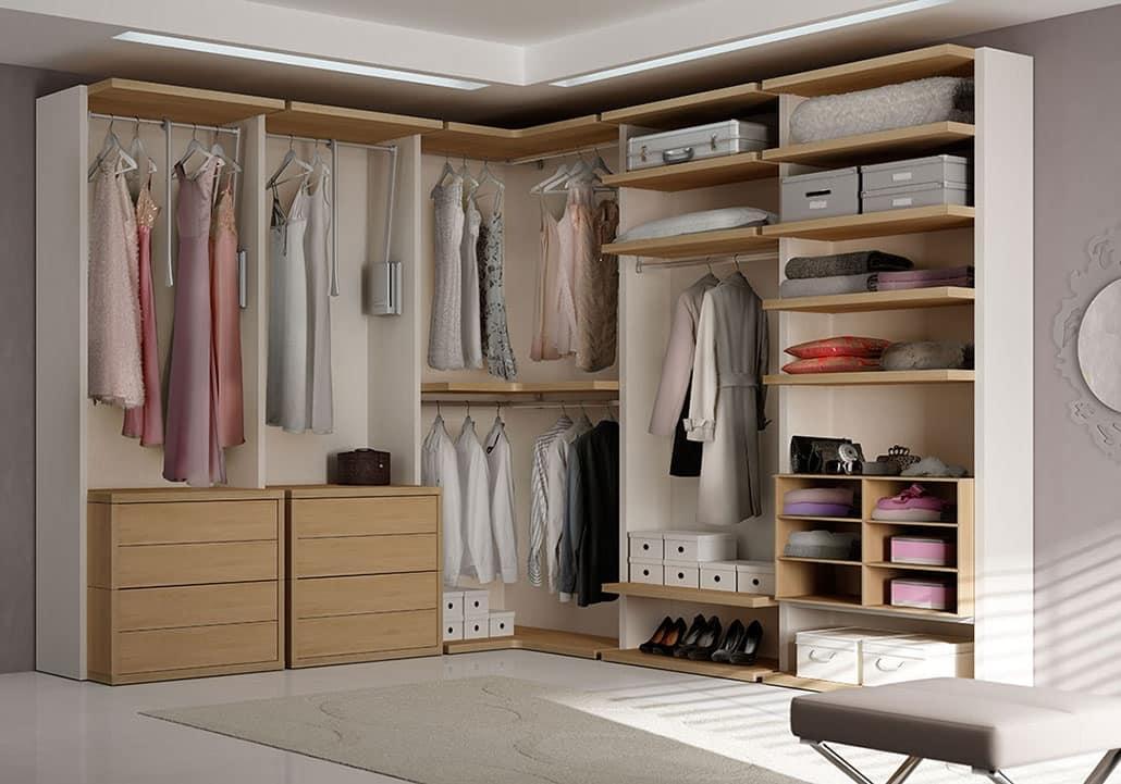 Moderner begehbarer Kleiderschrank mit Winkelelement   IDFdesign