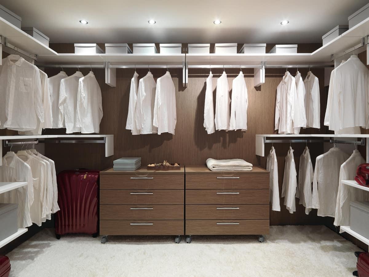 Modular und praktischen begehbaren Kleiderschrank, für Wohn-Villen ...