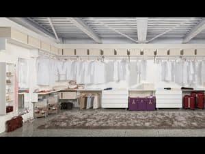 Kabine Keep Up 11, Elegante und funktionelle Kleiderschrank, für Hotels