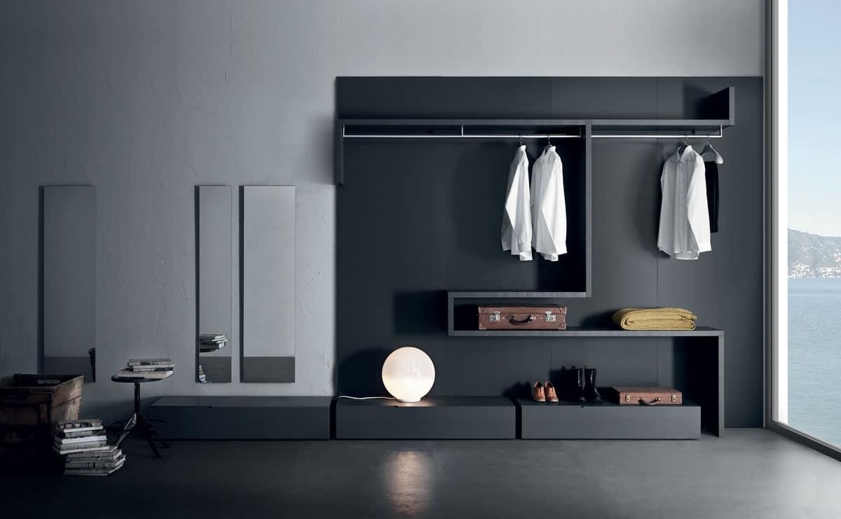 begehbarer kleiderschrank modular system images. Black Bedroom Furniture Sets. Home Design Ideas
