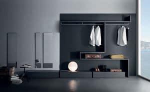 Libera & Snake, Funktional und modular begehbaren Kleiderschrank, verschiedenen Ausführungen