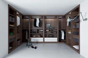 Sipario closet, Modulare Schranksystem, präzise Oberflächen