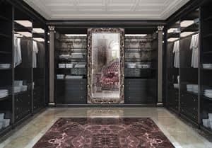 Walk-in closet 09, Walk-in Schrank kundengerecht, im klassischen Stil