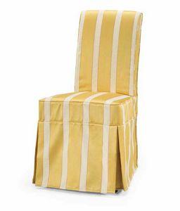 Art. 186, Stuhl für Esszimmer, mit abnehmbarer Polsterung