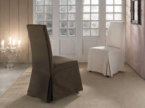 Art. 277 Butterfly, Dressed Stuhl für Esszimmer, Polsterung in Stoff Baumwolle