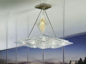 Alaska ceiling lamp, Kronleuchter mit rautenförmigen Elemente, fantasievolle Stil