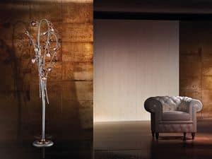 Ametista floor lamp, Moderne Stehleuchte mit mundgeblasenem Glas Knistern Diffusoren