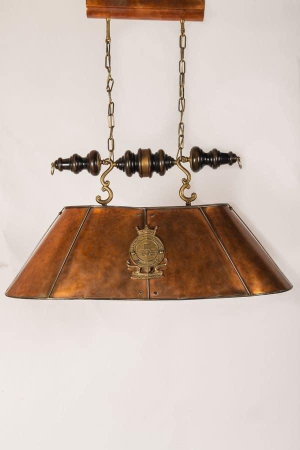 Kronleuchter mit Lampenschirm aus im Alter von Kupfer | IDFdesign