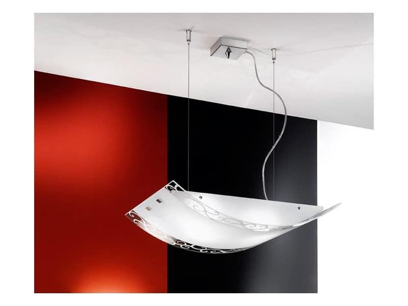 designleuchte aussetzung gebogenes glas f r die. Black Bedroom Furniture Sets. Home Design Ideas