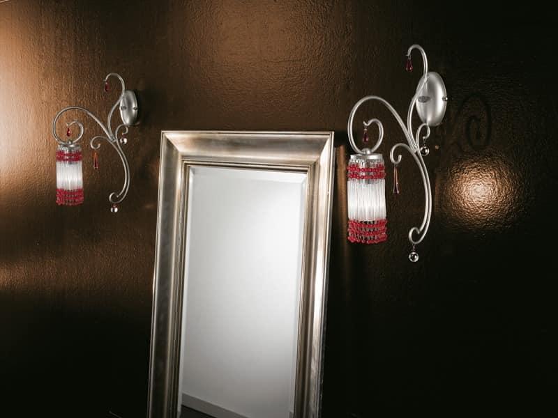 Applique luce in vetro di murano trasparente coll gd
