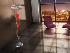 Casanova floor lamp, Stehleuchte mit gewundenen Linien, verschiedenen Ausführungen