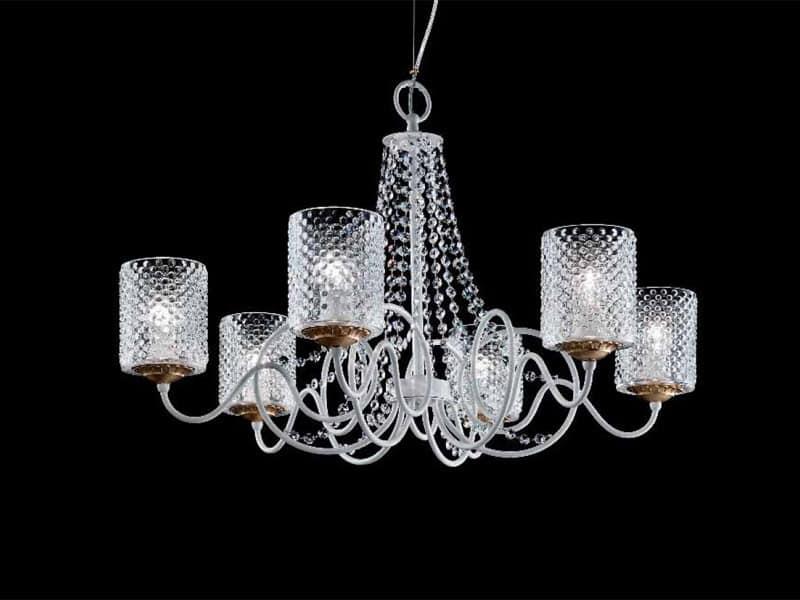 Kronleuchter Mit Lampenschirm ~ Kronleuchter mit lampenschirmen in organza und sw anhänger idfdesign