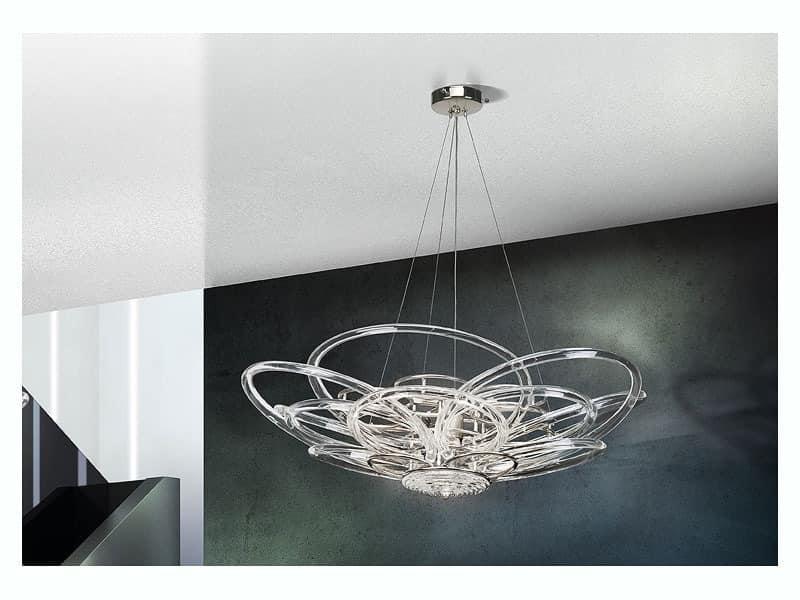 Flair chandelier, Pendelleuchte für moderne Büros und Villen