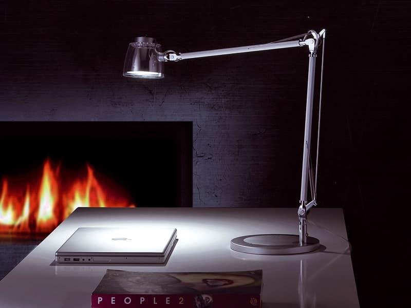 Mega Led, LED Tischleuchte, Alu-Arm für Büro und zu Hause