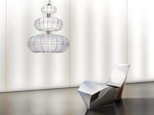 Moon chandelier, Modernen Kronleuchter mit Lichtern auf 3 Ebenen, einfache Formen
