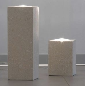Pollicina, Lampe für Haus, aus Stein, dichroitische Beleuchtung