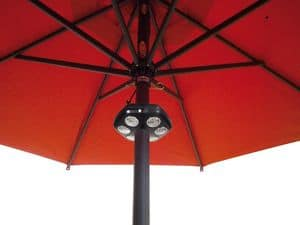 Sole Light, Parasol Lampe, LED-Beleuchtung