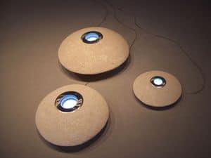 UFO LED, Außenleuchte aus Stein, LED-Licht