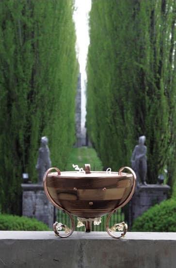 Venere, Halbkugel Stehleuchte, mit Murano-Glas dekoriert
