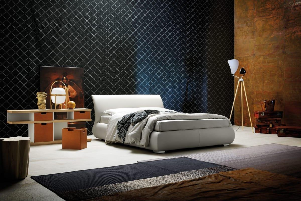 LUCAS, Einzelbett mit Ablagefach