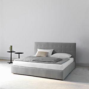 Montmartre Bett, Bett mit komplett abnehmbarer Polsterung