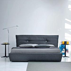 Sausalito Bett, Container Doppelbett, mit gepolstertem Kopfteil