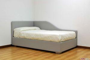 Thom, Einzelbett für Jungen mit zwei abnehmbaren gepolsterten Kopfteilen