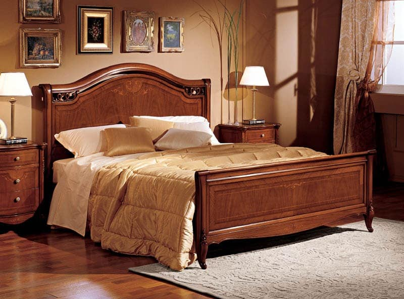 doppelbett im handgeschnitzte holz f r villa idfdesign. Black Bedroom Furniture Sets. Home Design Ideas