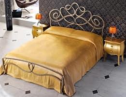 Arabesco, Eisen handmade Doppelbett, gewundenen Linien