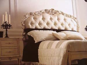 Art. 1753, Doppelbett, gesteppt, geschnitzt, für Schlafzimmer