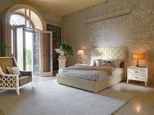 Art. VL734, Bett mit Speichereinheit, gepolstert, klassischen Stil