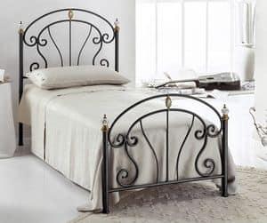Bolero Einzelbett, Einzelbett in Eisen, für die moderne Schlafzimmer