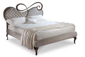 Chopin letto, Doppelbett, Holzrahmen, gepolstertem Kopfteil