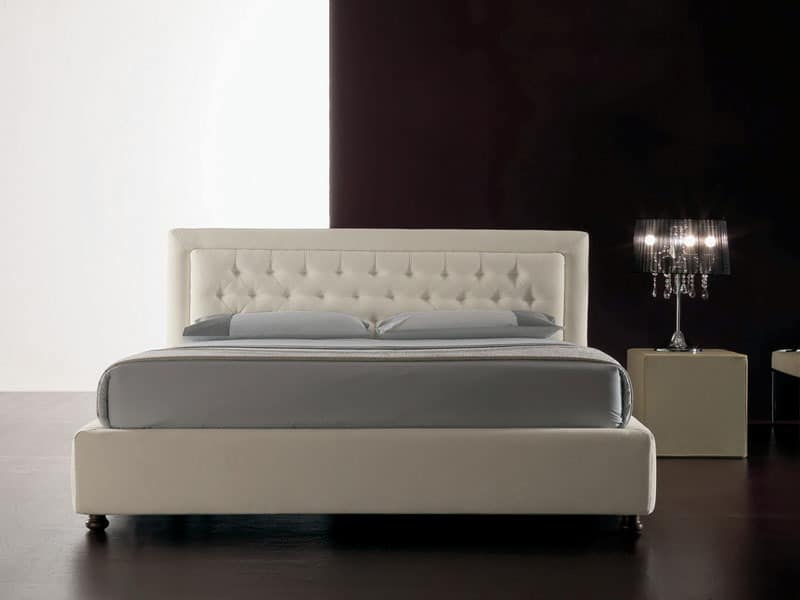 moderne bett mit polyurethan gepolstert gesteppten kopfteil idfdesign. Black Bedroom Furniture Sets. Home Design Ideas