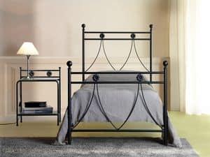 Crystal einzigen, Einzel-Metall-Bett mit klassischen Linien