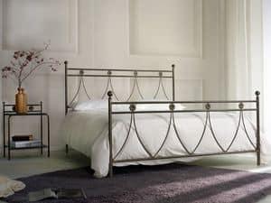 Crystal, Klassisches Doppelmetallbett, für Schlafzimmer