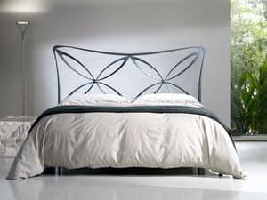 Doppelbett Alice, Mit Eisen Kopfteil, leichten Stil, verschiedenen Ausführungen Bett