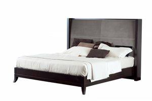 Downtown Bett, Bett mit breitem Polsterkopf