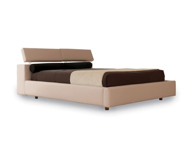 mit kopfteil mit der bewegung angehoben kopfst tze bett idfdesign. Black Bedroom Furniture Sets. Home Design Ideas