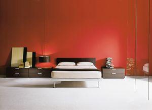 FILIPPO, Bett mit Struktur aus Aluminium, in verschiedenen Größen erhältlich