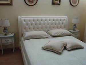 Gias, Klassisches Bett für Schlafzimmer, mit Aufbewahrungsbox