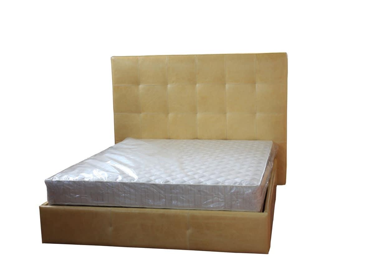 kastenbett mit box und lederbezug bett idfdesign. Black Bedroom Furniture Sets. Home Design Ideas