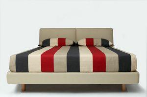 La Notte, Doppelbett mit gepolstertem Bettrahmen