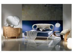 LE14 Iride, Ledersofa, handgemacht, Licht und dynamischen Stil