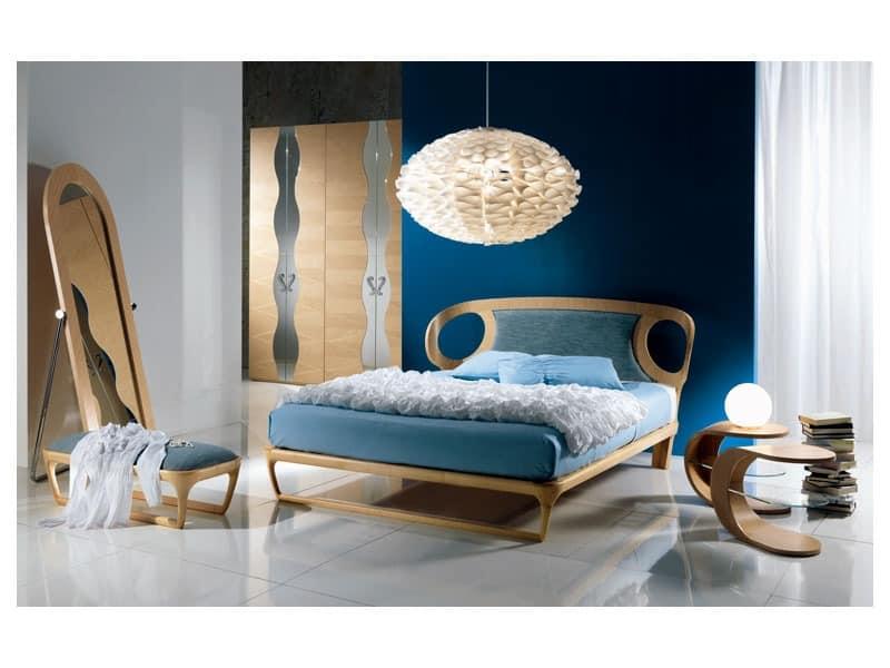 Einlegearbeiten aus Holz Bett, Polsterkopfteil, für Schlafzimmer ...