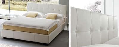 Matisse, Modernes Doppelbett mit Leder bezogen, verschiedene Versionen